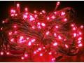 Lampki choinkowe 100 led czerwone, programator