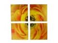 Obraz Dzielony 4 Elementy Żółty Kwiat