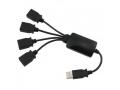 CZARNY HUB ROZDZIELACZ USB 4-PORTY USB 2.0