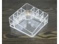 Akrylowy stojak organizer na kosmetyki 13x13x7cm