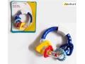 Grzechotka gryzak Angel 9cm zabawka -niebieska