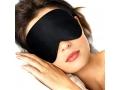 OPASKA NA OCZY Opaski do Spania Maska czarna ŚPIJ