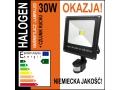 Halogen led 30W projekcyjna lampa halopak + czujni