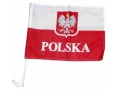 Polska auto flaga FLAGI SAMOCHODOWE 46x31 EMAJ