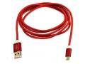 KABEL MICRO USB CZERWONY NYLON 1,5 M