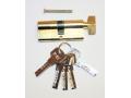 Wkładka do zamka 70mm złota 5 kluczy motylek