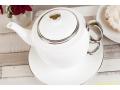 ZESTAW DO HERBATY TEA FOR ONE BIAŁY SREBRO 444-420