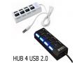 USB 2.0 Hub rozgałęziacz 4 x USB z wyłącznikami