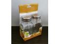 Zestaw szklana solniczka z pieprzniczką 9cm