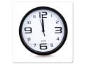 Niesamowity zegar ścienny okrągły Czarny Srebrny
