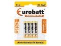 Baterie Alkaline Plus LR03 BP4 EUROBATT 4szt