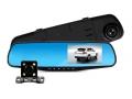 Rejestrator jazdy lusterko kamera cofania + LED