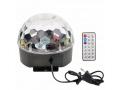 Kula disco lampa dyskotekowa 230V głosnik+pilot
