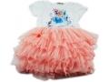 Sukienka Królowej Elsy z bajki FROZEN - różowa