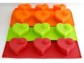 Silikonowa Forma do pieczenia Muffinek 6szt serce