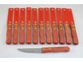 Komplet 12szt. noży z drewnianą rączką 17cm ostre
