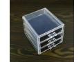 Akrylowy stojak szufladki na kosmetyki 12x11x13cm