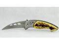 Scyzoryk nóż boczny sprężynowy 14,5cm kość