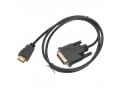 KABEL HDMI-DVI-D 5m Pozłacany FULL HD LAPTOP TV