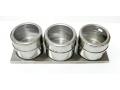 Zestaw trzy pojemniczków na przyprawy z magnes