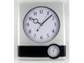 Zegar ścienny wskazówkowy 32x27cm z temperaturą