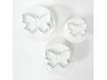 Foremki wyciskane do ciasteczek motylki 3 szt