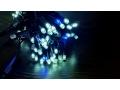 Lampki zewnętrzne 100 zimny biały + niebieski błys