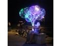 ŚWIECĄCY BALON LED Z RĄCZKĄ DUŻY 25 cm + PATYK