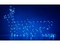 Renifer Z Saniami Taśma LED Niebieski