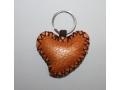 Brelok do kluczy skórzany w kształcie serca