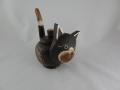Koty - dekoracja drewniana - pojemnik