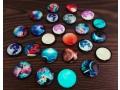 Magnesy fluorescencyjne szklane planety 2,5cm