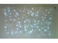 Lampki choinkowe 120 led kurtyna sople białe