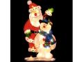 Dwustronna Dekoracja Do Okna Mikołaj + Bałwan