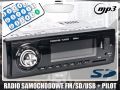 Radio samochodowe DEH-4103 4x50W mp3 pilot