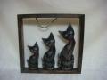 Koty drewniane w ramce