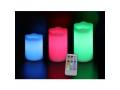 Świeczki świece LED RGB 3 sztuki + pilot