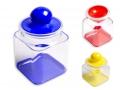 Pojemnik plastikowy 0,9 L kwadratowy MIX kolor