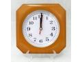 Zegar ścienny wskazówkowy pływający wzór drewno17c
