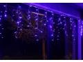 Lampki choinkowe 100 led kurtyna sople niebieskie