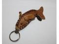Brelok do kluczy skórzany w kształcie delfina