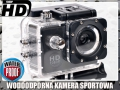 Wodoodporna kamera sportowa Full HD z akcesoriami