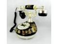Telefon stacjonarny z wyświetlaczem antyk czarny
