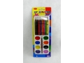 Farby akwarele z kredkami (17 elementów)