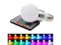 Żarówka Disco E27 RGB LED + pilot