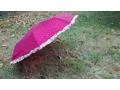 Parasol duży groszki , falbana - Mix kolorów