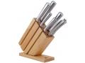 Noże kuchenne w drewnianym bloku 7el.
