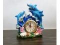 Zegarek z budzikiem delfiny 13cm