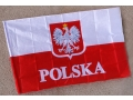 Flaga Z Napisem POLSKA I Orłem 150 x 90 cm