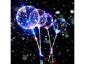 Świecący balon led z rączką duży + patyk